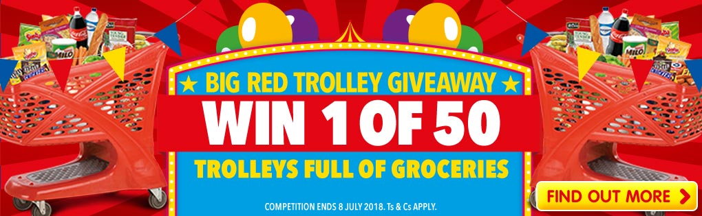 BIG RED TROLLEY GIVEAWAY