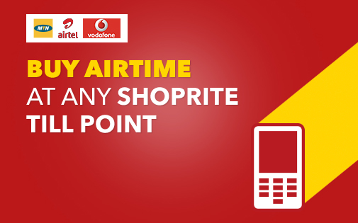 BUY AIRTIME AT ANY SHOPRITE TILL POINT