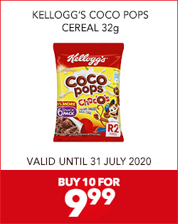 KELLOGG'S COCO POPS CEREAL 32g, BUY 10 FOR 9,99