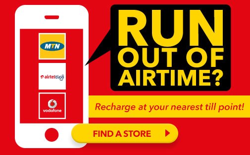 RECHARGE AT YOUR NEAREST TILL POINT