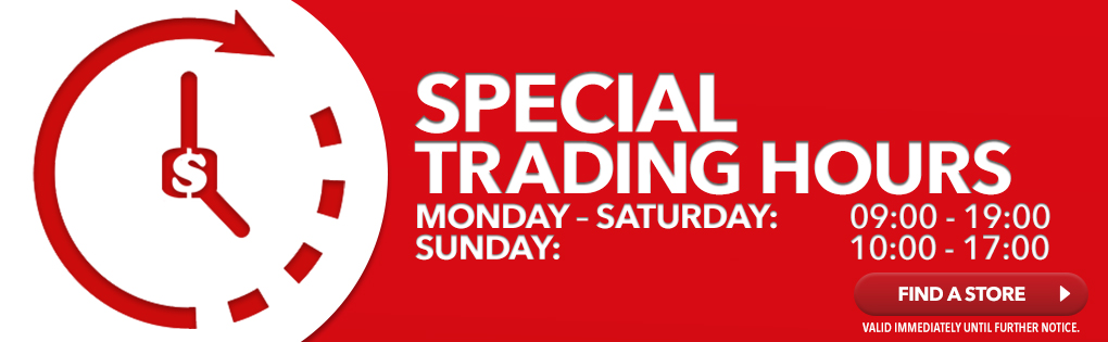 SPECIAL TRADING HOURS