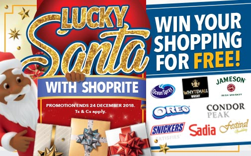 WIN YOUR SHOPPING FOR FREE WITH LUCKY SANTA