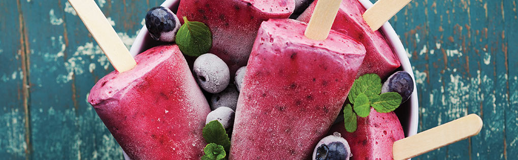 BERRY ICE CREAM LOLLIES